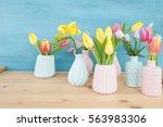 Fresh Spring Flowers In Little...