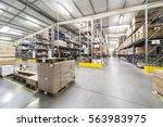 warehouse interior | Shutterstock . vector #563983975