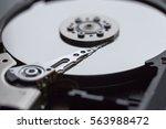 close ups of an open computer...   Shutterstock . vector #563988472