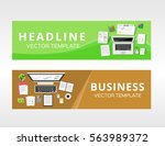 business solution or business... | Shutterstock .eps vector #563989372
