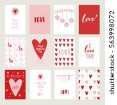 valentines day set cards....   Shutterstock .eps vector #563998072