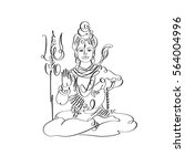 lord shiva black and white...   Shutterstock .eps vector #564004996