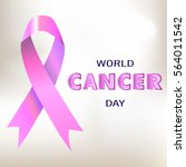 world cancer day vector... | Shutterstock .eps vector #564011542