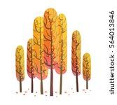 vector cartoon image of seven... | Shutterstock .eps vector #564013846