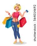 girl enjoying shopping
