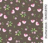 decorative seamless cute vector ... | Shutterstock .eps vector #564018592