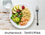 my plate   portion control...   Shutterstock . vector #564019066