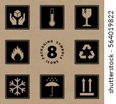 packaging symbols handle with... | Shutterstock .eps vector #564019822