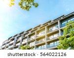 steel and glass facade of...   Shutterstock . vector #564022126