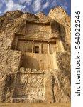 persian tomb of kings in... | Shutterstock . vector #564022546