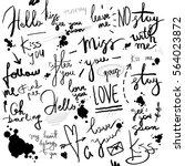 Set Of Black Handwriting...