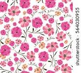 seamless pattern delicate... | Shutterstock . vector #564030955
