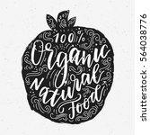 vegetarian eco concept organic... | Shutterstock .eps vector #564038776