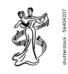 couple dancing 2   retro clip... | Shutterstock .eps vector #56404207