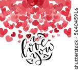 hand sketched love you text as... | Shutterstock .eps vector #564045916
