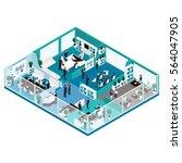 trendy isometric people  office ... | Shutterstock .eps vector #564047905