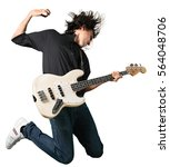 guitarist. | Shutterstock . vector #564048706