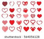 big heart vector collection  ...   Shutterstock .eps vector #564056128