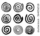 set of swirling circles.... | Shutterstock .eps vector #564056518