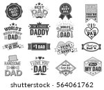 isolated happy fathers day... | Shutterstock .eps vector #564061762