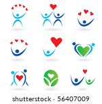 love  relationship and... | Shutterstock .eps vector #56407009