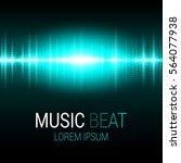 Music Beat. Turquoise Lights...