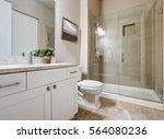 transitional bathroom interior... | Shutterstock . vector #564080236
