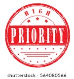 "rubber stamp with text ""high... 