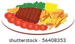 vector food | Shutterstock .eps vector #56408353