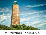 Small photo of The Cape Henry Lighthouse in Virginia Beach, Virginia built in 1792.