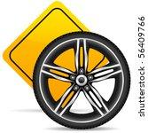 Aluminum Wheel And Yellow Road...