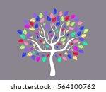 vector illustration of abstract ... | Shutterstock .eps vector #564100762
