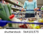 consumerism and people concept  ...   Shutterstock . vector #564101575