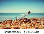 message in bottle | Shutterstock . vector #564102685