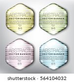 abstract vector banner set of 4.... | Shutterstock .eps vector #564104032