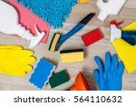 house cleaning products.... | Shutterstock . vector #564110632