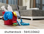 Cleaning Service. Bucket With...