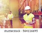 wholesale  logistic  people and ... | Shutterstock . vector #564116695