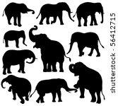 Vector Illustration Of Elephan...