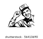 friendly service man   retro... | Shutterstock .eps vector #56413690