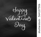 vector valentines day card.... | Shutterstock .eps vector #564137506