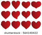 red heart vector icon... | Shutterstock .eps vector #564140422