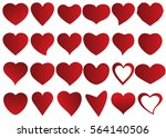 red heart vector icon... | Shutterstock .eps vector #564140506