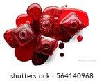 fine art cosmetics and beauty... | Shutterstock . vector #564140968