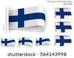 flag of finland is embroidered... | Shutterstock .eps vector #564143998