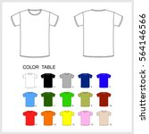 a set of t shirts of different... | Shutterstock .eps vector #564146566