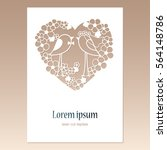 Card With Openwork Heart With...