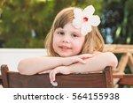 Cute Smiling Caucasian Little...