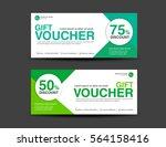 green discount voucher template ... | Shutterstock .eps vector #564158416