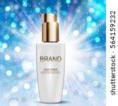 skin toner bottle tube template ... | Shutterstock .eps vector #564159232